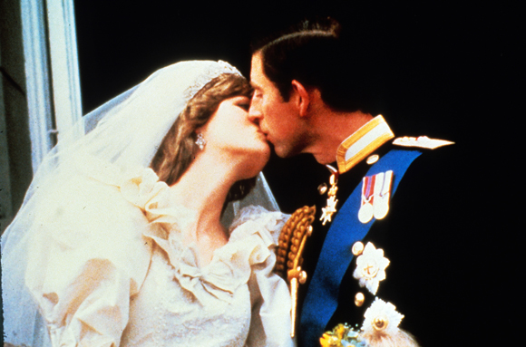 Diana and Charles at their wedding
