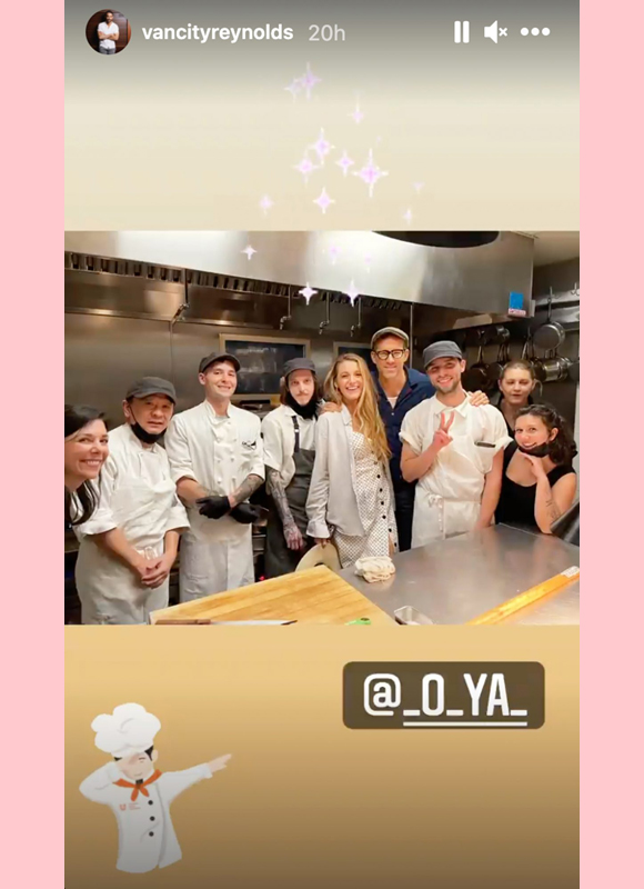 ryan reynolds, blake lively : pose with staff of o ya restaurant for first date anniversary