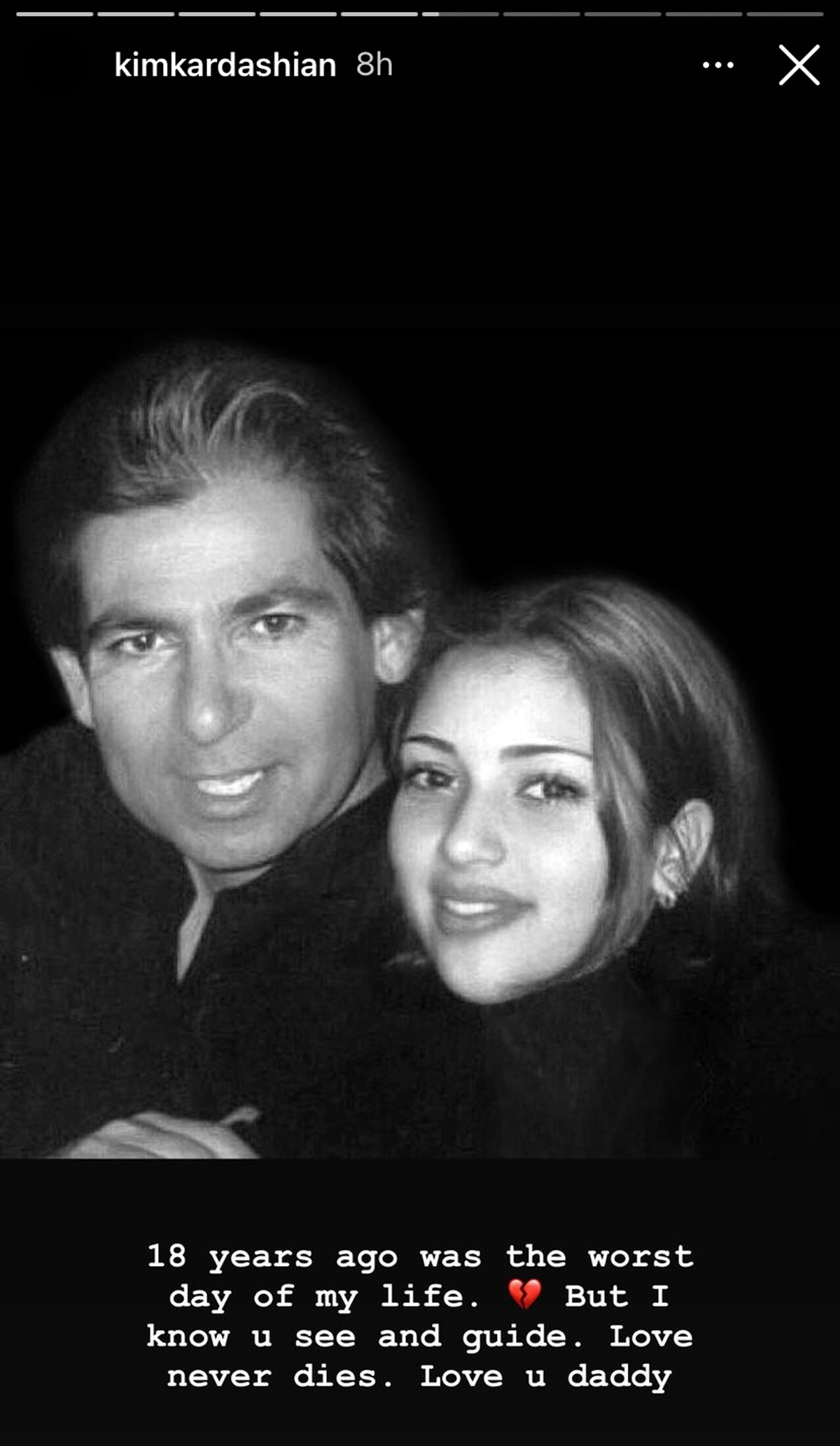 Kim Kardashian Remembers Her Father Robert On The 18th Anniversary Of His Death: 'I Know You See And Guide'
