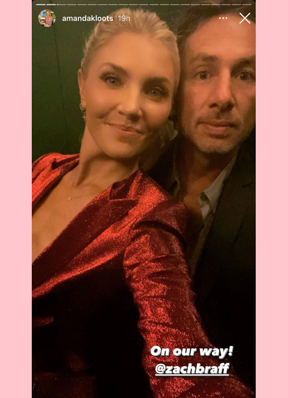 amanda kloots, zach braff : attend opening night of waitress musical