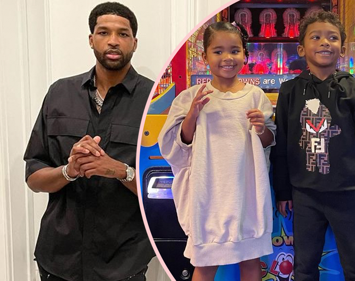 Tristan Thompson Shares Rare Photos Of Daughter True & Son Prince Together, Says They're 'Not So Little Anymore'!